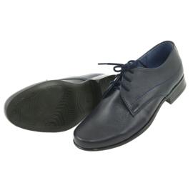 Gregors 429 navy blue communion slippers 5