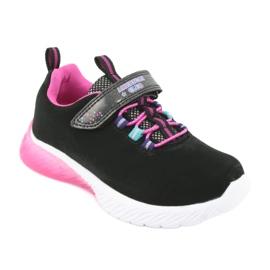 Pink American Club ES14 black sports shoes violet 1