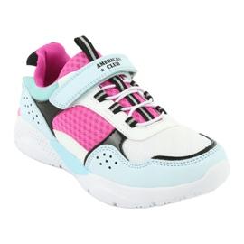 Fashionable American Club ES07 sports shoes white blue pink 1