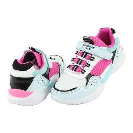 Fashionable American Club ES07 sports shoes white blue pink 4