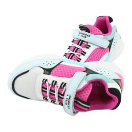 Fashionable American Club ES07 sports shoes white blue pink 5