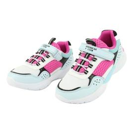 Fashionable American Club ES07 sports shoes white blue pink 3