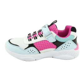 Fashionable American Club ES07 sports shoes white blue pink 2