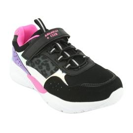 Fashionable American Club ES07 sports shoes black violet pink grey 1