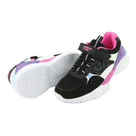 Fashionable American Club ES07 sports shoes black violet pink grey 5