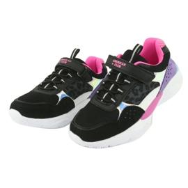 Fashionable American Club ES07 sports shoes black violet pink grey 3