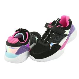 Fashionable American Club ES07 sports shoes black violet pink grey 4