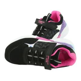 Fashionable American Club ES07 sports shoes black violet pink grey 6
