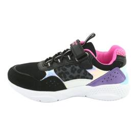 Fashionable American Club ES07 sports shoes black violet pink grey 2