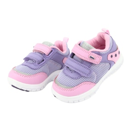 American Club ES23 two Velcro trainers violet pink 3