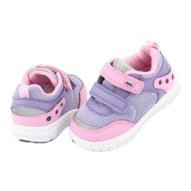 American Club ES23 two Velcro trainers violet pink 4