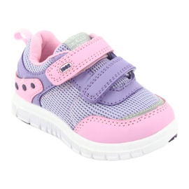 American Club ES23 two Velcro trainers violet pink 1
