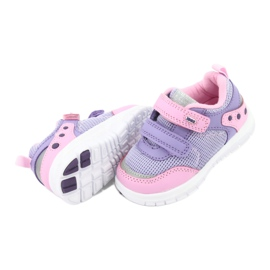 American Club ES23 two Velcro trainers violet pink 5