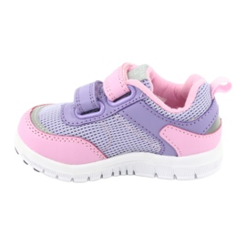 American Club ES23 two Velcro trainers violet pink 2