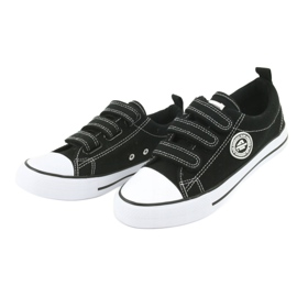 American Club American children's sneakers with Velcro LH33 white black 2