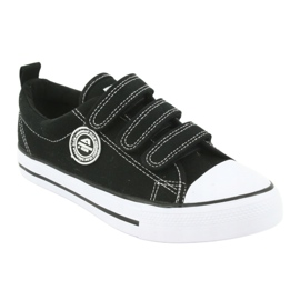 American Club American children's sneakers with Velcro LH33 white black 1