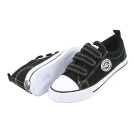American Club American children's sneakers with Velcro LH33 white black 3