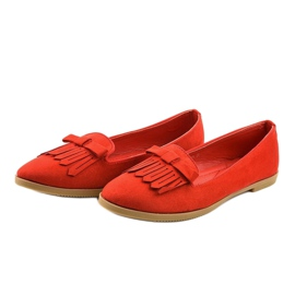 Red lords loafers from eco-suede 2358 3