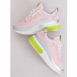 Pink YK106 GRAY / PINK women's sports shoes grey 3