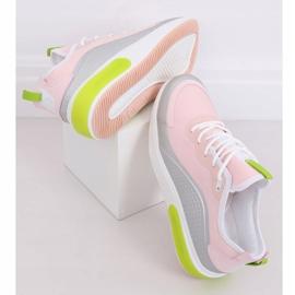 Pink YK106 GRAY / PINK women's sports shoes grey 1