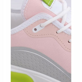 Pink YK106 GRAY / PINK women's sports shoes grey 4