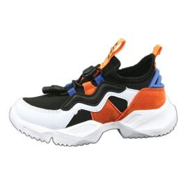 Bartek sports shoes 75219 white black blue orange 2