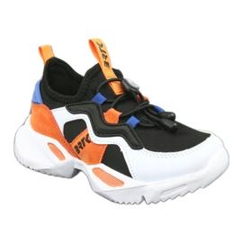 Bartek sports shoes 75219 white black blue orange 1