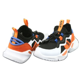 Bartek sports shoes 75219 white black blue orange 4