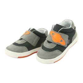 Bartek 71141 Velcro sneakers orange grey 3