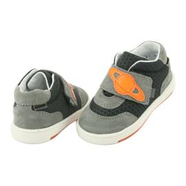 Bartek 71141 Velcro sneakers orange grey 4