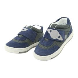 Bartek sports shoes sneakers Velcro 71141 navy grey 3
