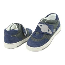 Bartek sports shoes sneakers Velcro 71141 navy grey 4
