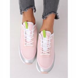 Pink YK106 GRAY / PINK women's sports shoes grey 5