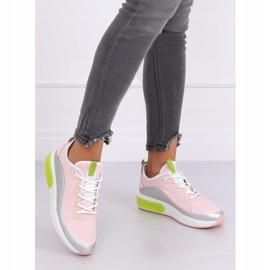 Pink YK106 GRAY / PINK women's sports shoes grey 2