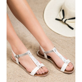 Small Swan Classic Sandals With Eco Leather white 3