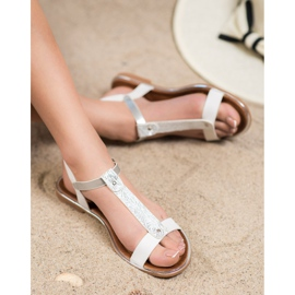 Small Swan Classic Sandals With Eco Leather white 1