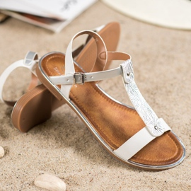 Small Swan Classic Sandals With Eco Leather white 2