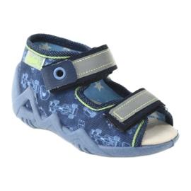 Befado yellow children's footwear 350P011 navy blue grey green 1