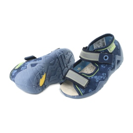 Befado yellow children's footwear 350P011 navy blue grey green 4