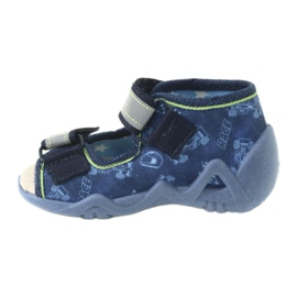 Befado yellow children's footwear 350P011 navy blue grey green 2