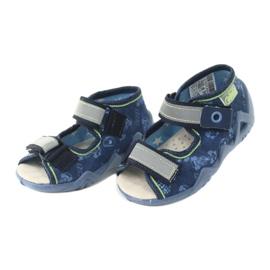 Befado yellow children's footwear 350P011 navy blue grey green 3