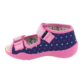 Befado yellow children's shoes 342P007 navy blue pink 3