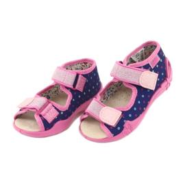 Befado yellow children's shoes 342P007 navy blue pink 4