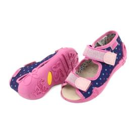 Befado yellow children's shoes 342P007 navy blue pink 5