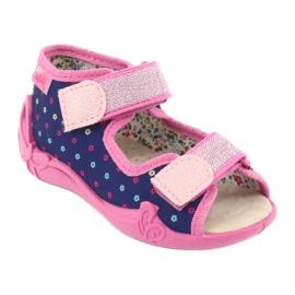 Befado yellow children's shoes 342P007 navy blue pink 2