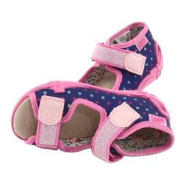 Befado yellow children's shoes 342P007 navy blue pink 6