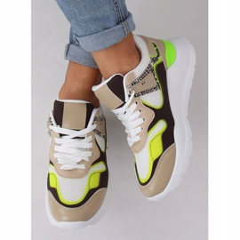 JD01P White women's sports shoes multicolored 1