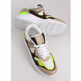 JD01P White women's sports shoes multicolored 3