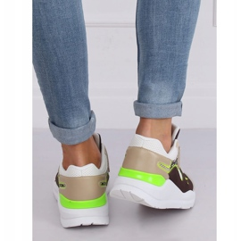 JD01P White women's sports shoes multicolored 2
