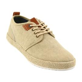 Espadrilles men's shoelaces Big Star FF174153 brown 1